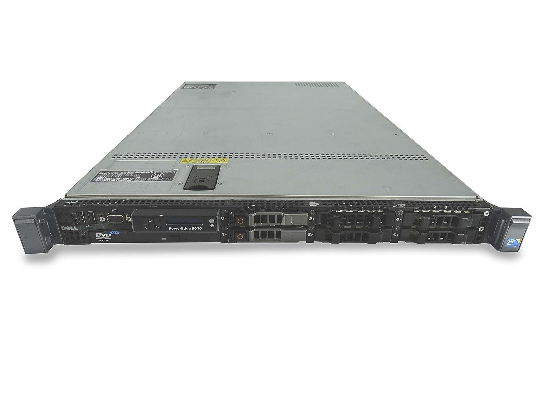 Dell PowerEdge R610 6-Bay SFF 1U Server, 2X X5680 3.33GHz 6C, 8GB DDR3, 2X Trays Included, PERC 6/i, iDRAC 6 Express, 2X 711W PSUs, Rails (Certified Refurbished) Dell Computers R610 6x Bay