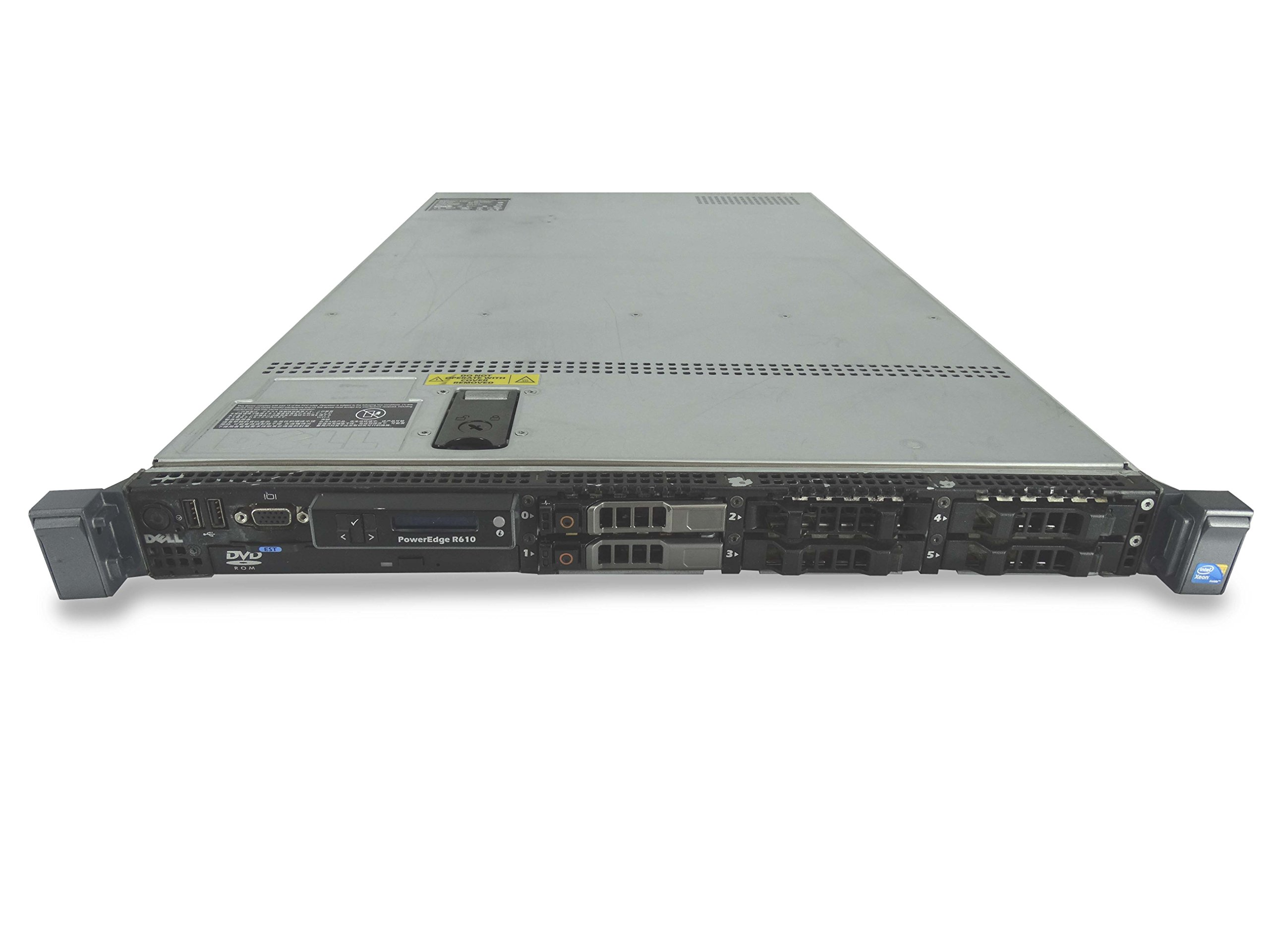 Dell PowerEdge R610 6-Bay SFF 1U Server, 2X X5650 2.66GHz 6C, 32GB DDR3, 2X 300GB 10K SAS 2.5, PERC 6/i, iDRAC 6 Express, 2X 711W PSUs, Rails (Certified Refurbished)