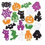 baker ross halloween foam glitter stickers pack of 120 for kids halloween arts