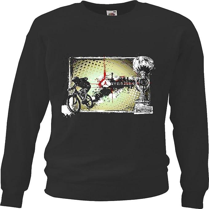 Sudaderas Suéter Los Ciclistas de montaña con LA Taza BTT reparación de la Bicicleta de Ciclo del Paseo en Bicicleta BTT Camisa in Negro: Amazon.es: Ropa y ...