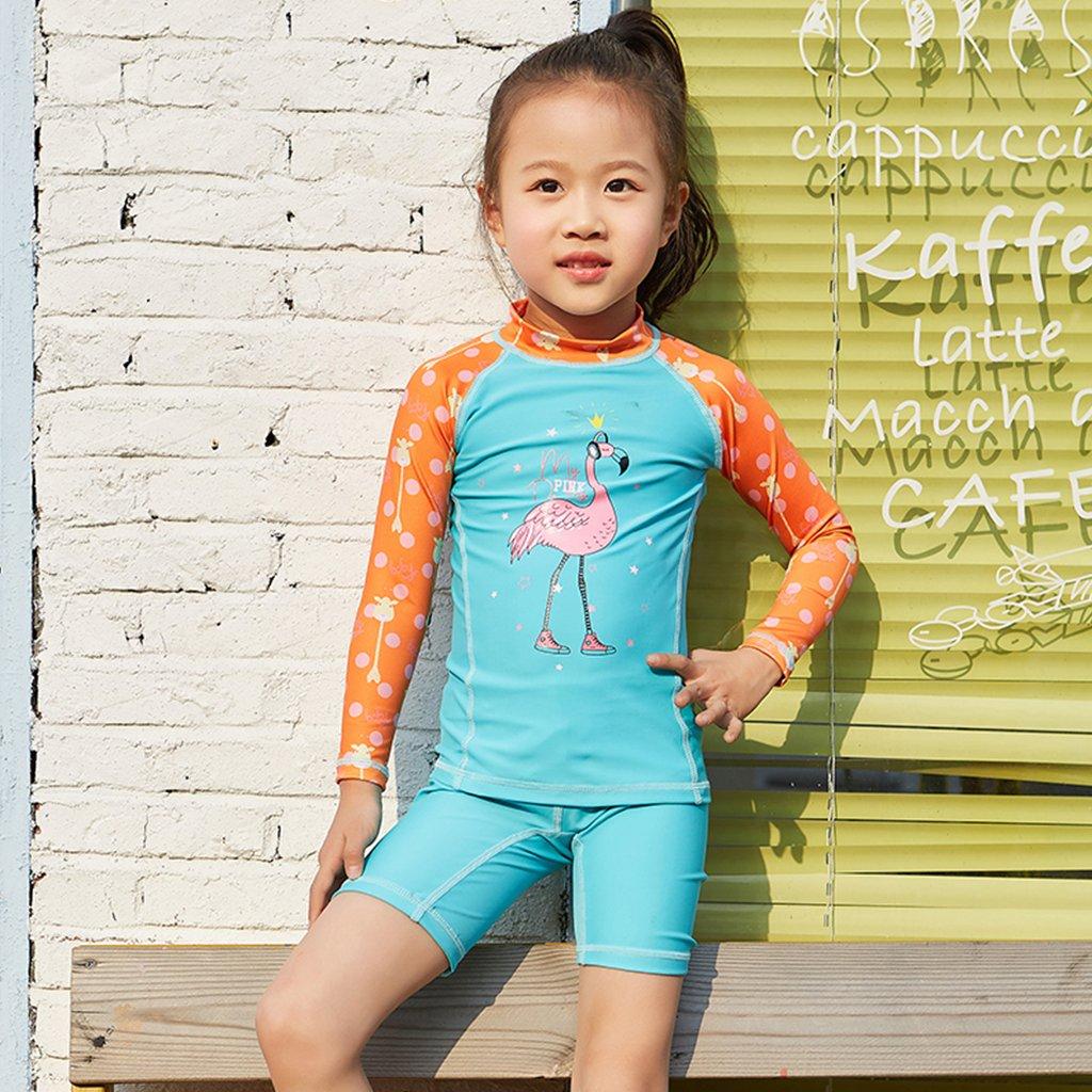 18339d4c0d Gogokids Baby Girls Two-Piece Swimsuit Swimwear - Kids Long Sleeves  Sunsuits UPF 50+ Wetsuits Swimming Cosutme: Amazon.co.uk: Clothing