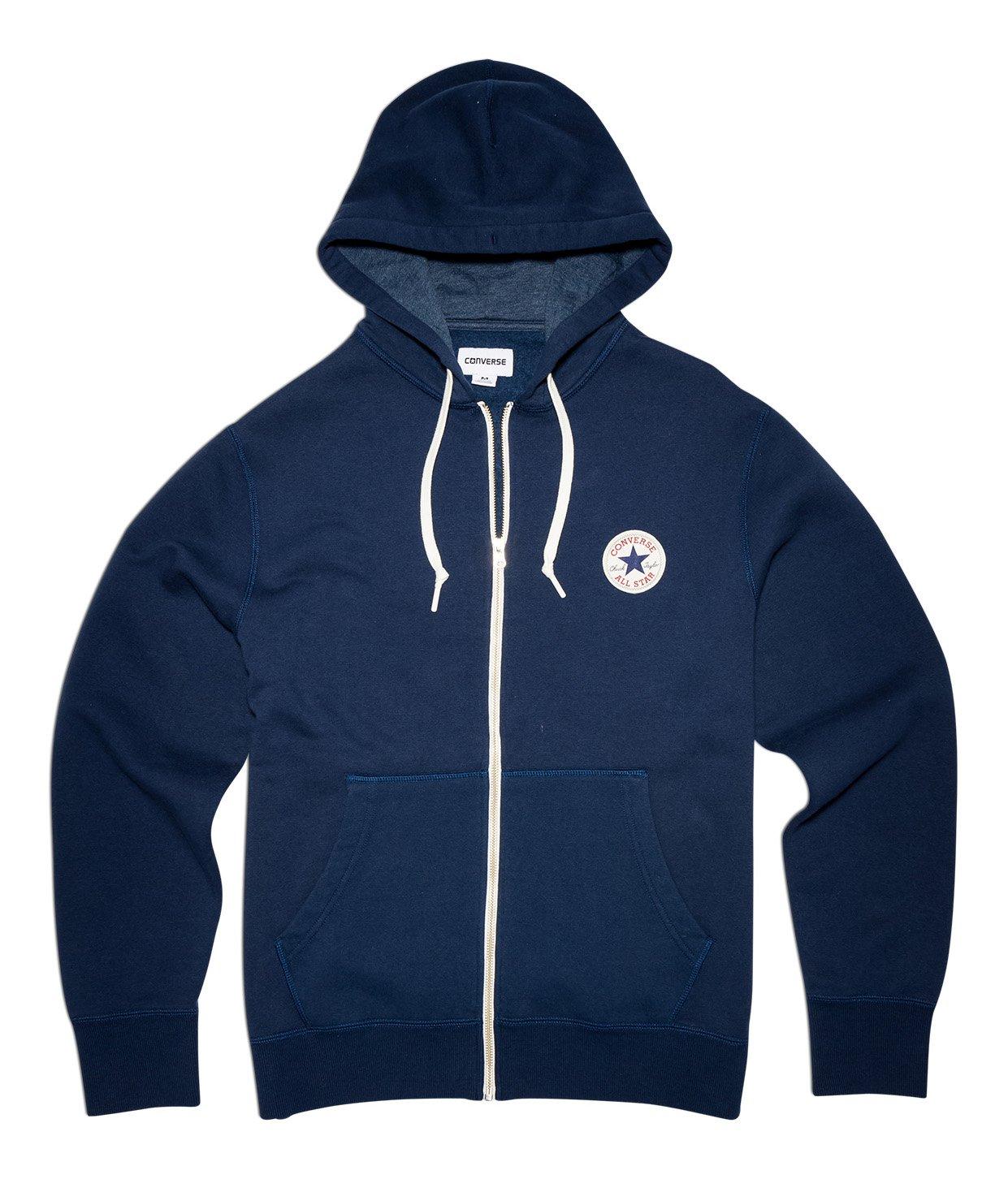 585e9bc14eed80 Converse Core Logo Zip Hoodie Navy Small Navy  Amazon.co.uk  Clothing