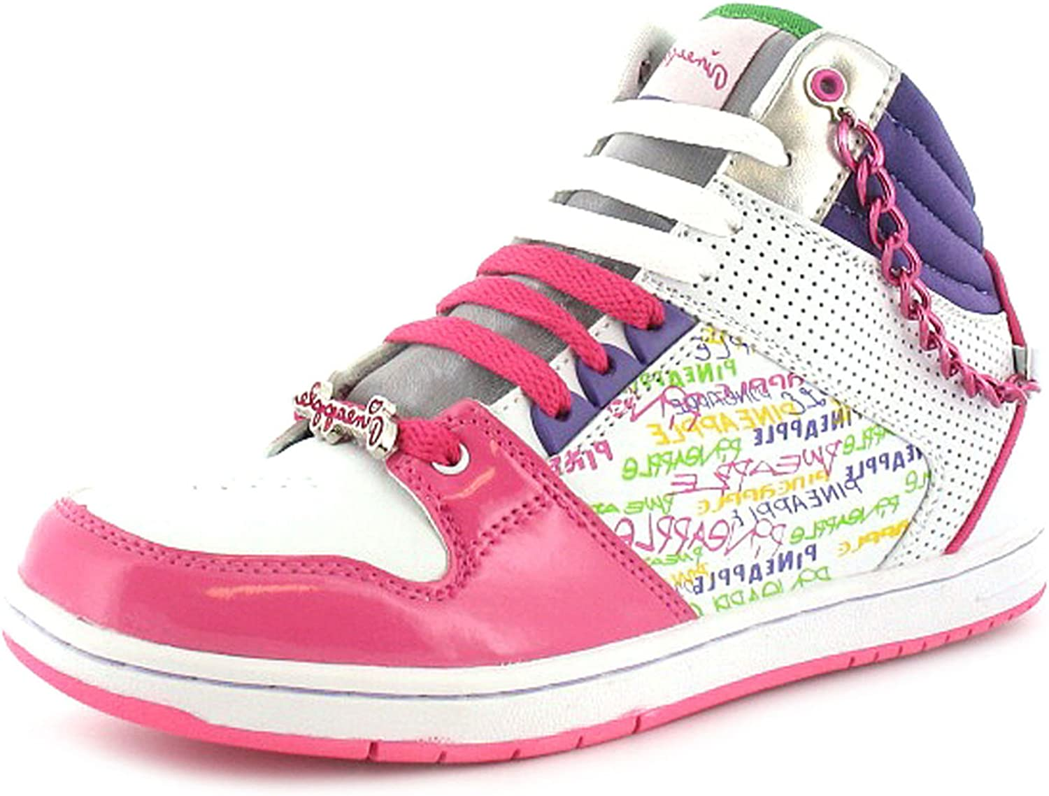 Cut Trainers. - White/Pink - UK SIZE