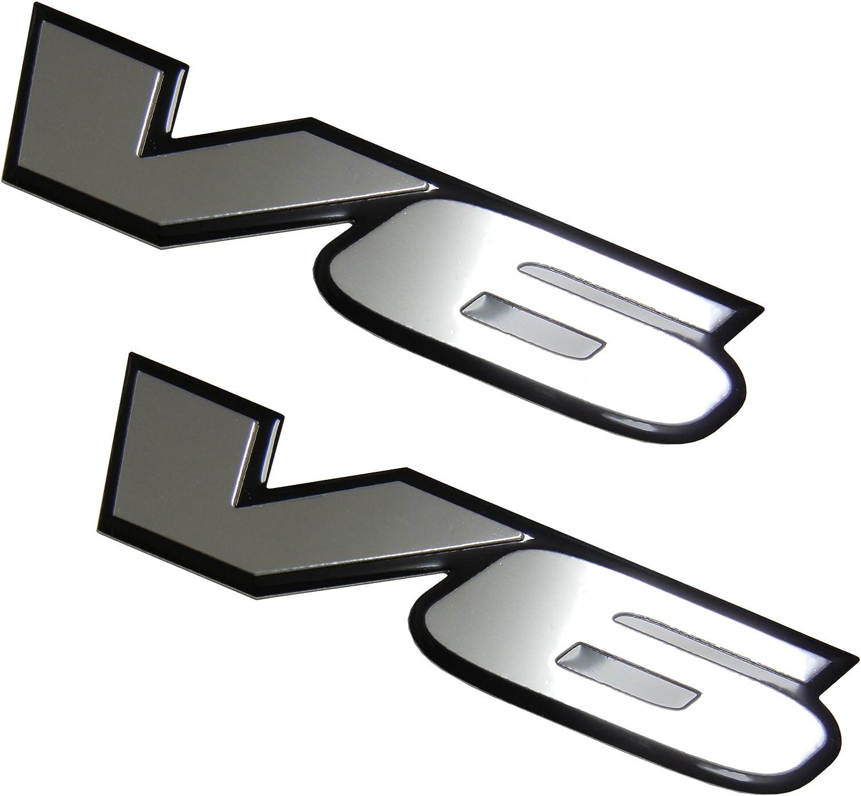 Pair//Set 2 x V6 Engine Badge Emblem for Hyundai Tiburon GT Se Genesis 3.8L