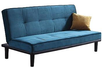 SUEÑOSZZZ - Sofa cama SURFER de 3 plazas color, estructura ...