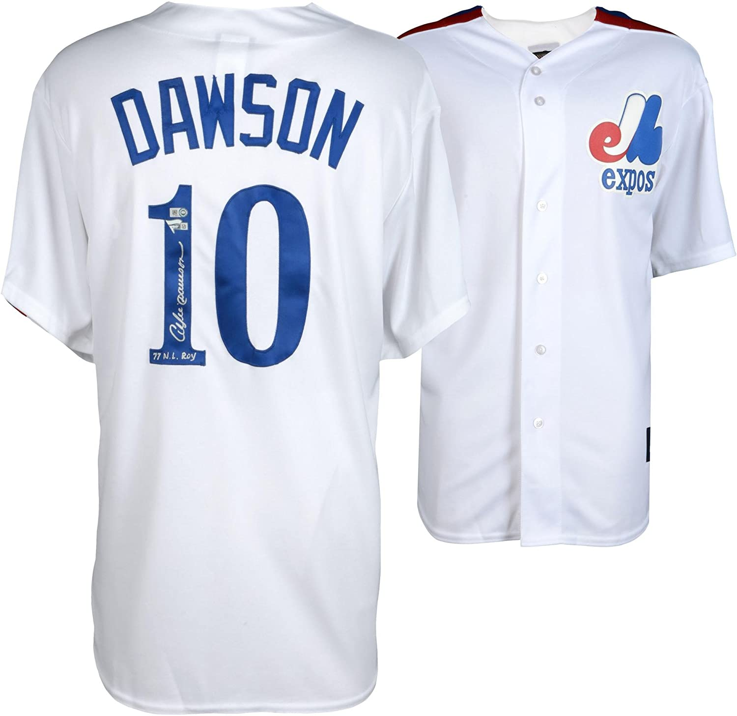 d456757fcb1 Andre Dawson Montreal Expos Autographed Majestic White Cooperstown  Collection Replica Jersey with 77 NL ROY Inscription - Fanatics Authentic  Certified at ...