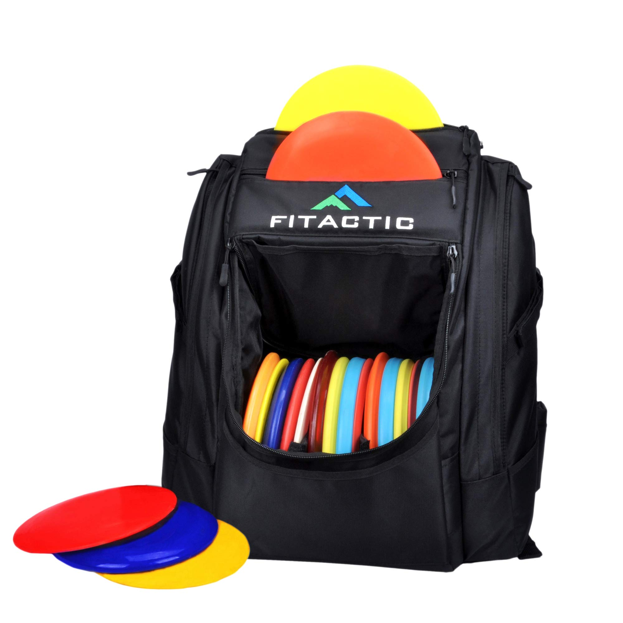 FITactic Luxury Frisbee Disc Golf Bag Backpack (Capacity: 25-30 Discs, Black) by FITactic