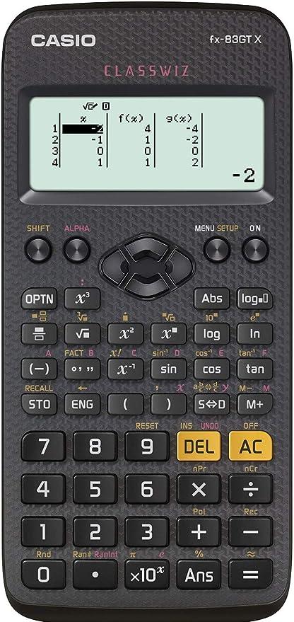 Casio fx-83GTX Scientific Calculator, Black: Amazon.co.uk: Office Products