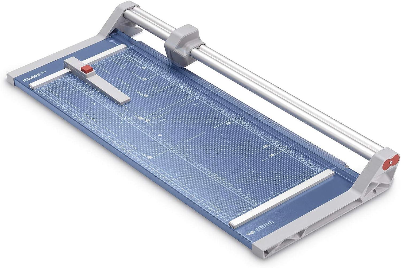 blau Dahle 554 Papierschneider Modell 2020 bis DIN A2, 20 Blatt Schneidleistung, 2 mm Schnitth/öhe