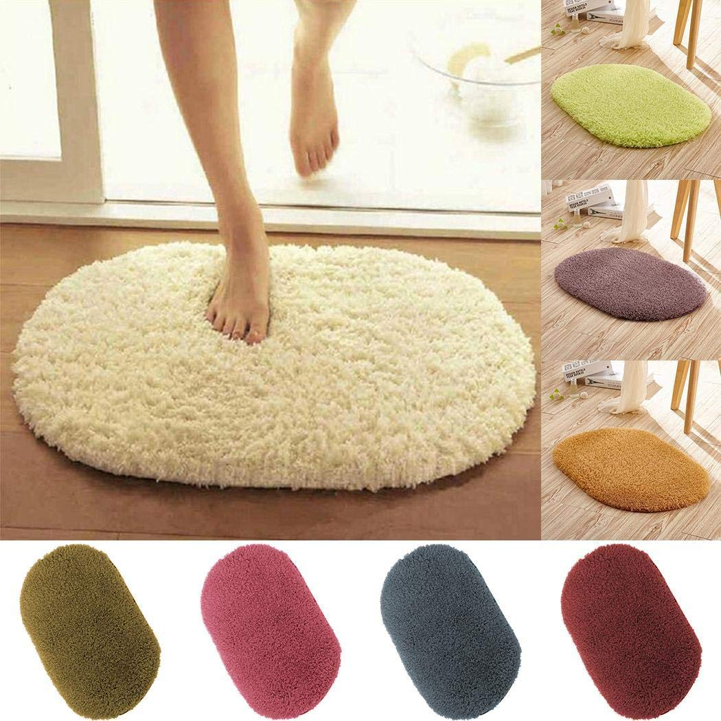 Home Bathroom Bedroom Doormat Floor Soft Non-Slip Shower Mat Rug Carpets KOKOBUY