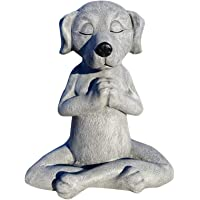 GEZHEN Dog Statue Zen Buddha, Meditation Dog Statue-Yoga Dog Garden Statue Decoration, Spring Home Indoor Outdoor…