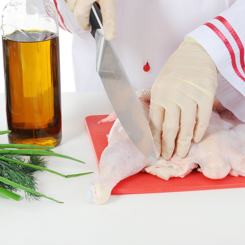 Chef Knife, Poshei 8 inch Multi-purpose High Carbon Stainless Steel Kitchen Knife with Razor Sharp Blade and Balanced Ergonomic Pakka Wood Handle with Gift Box by poshei (Image #6)