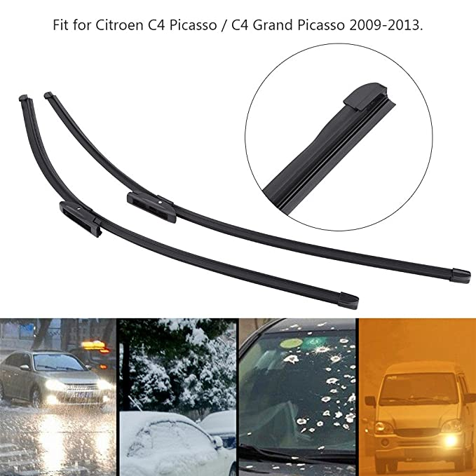 2 piezas de limpiaparabrisas delantero izquierda y derecha para Citroen C4 Picasso / C4 Grand Picasso 09-13