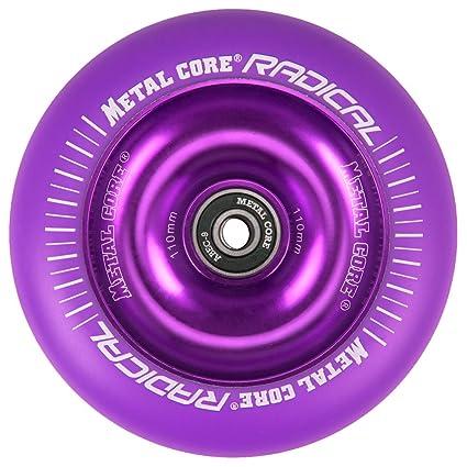 Metal Core Rueda Radical Monocromática para Scooter Freestyle, Diámetro 110 mm