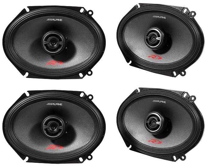 Amazon Com Alpine Spr 68 6 X 8 Inch 2 Way Pair Of Car Speakers