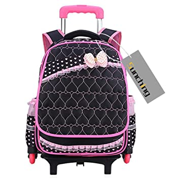 School Bags for Teenage Girls Sunching Waterproof Backpack with Wheeled  Trolley Hand, Kids Travelling Bags for Pupils Primary Students  Amazon.co.uk   Baby a0df359c90