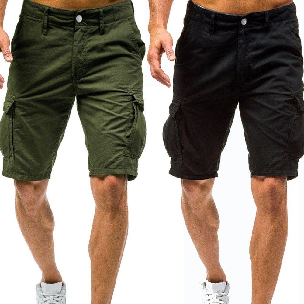 Sonnena Bermudas Homme Casual Armée Combat Shorts Militaire Cargo Pantalond  dEté Outdoor Pantacourt Vintage Shorts de Sport Multi Poches e5866be80ee