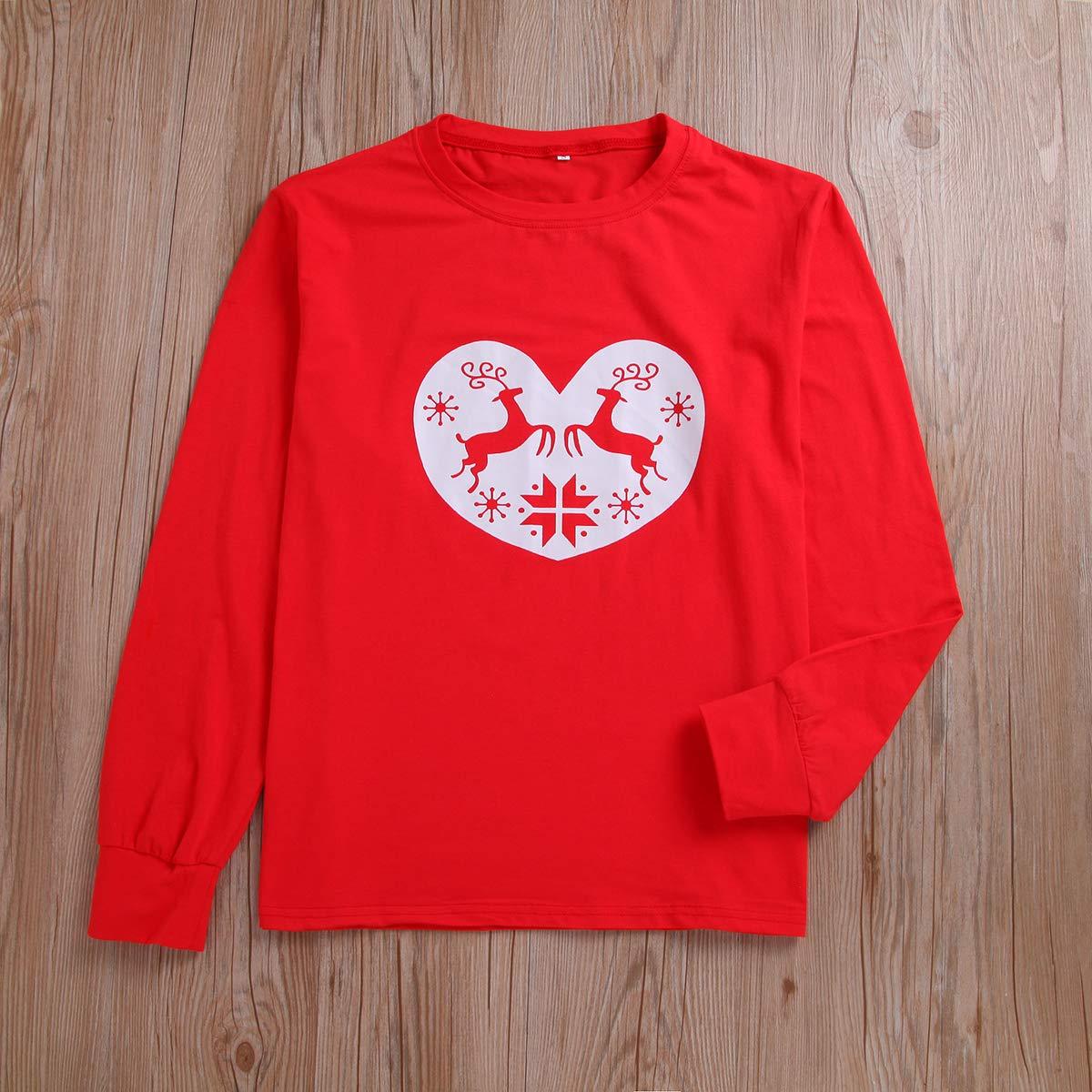 Family Christmas Pajamas Set Adult Kids Girls Boy Mommy Dad Sleepwear 2pcs