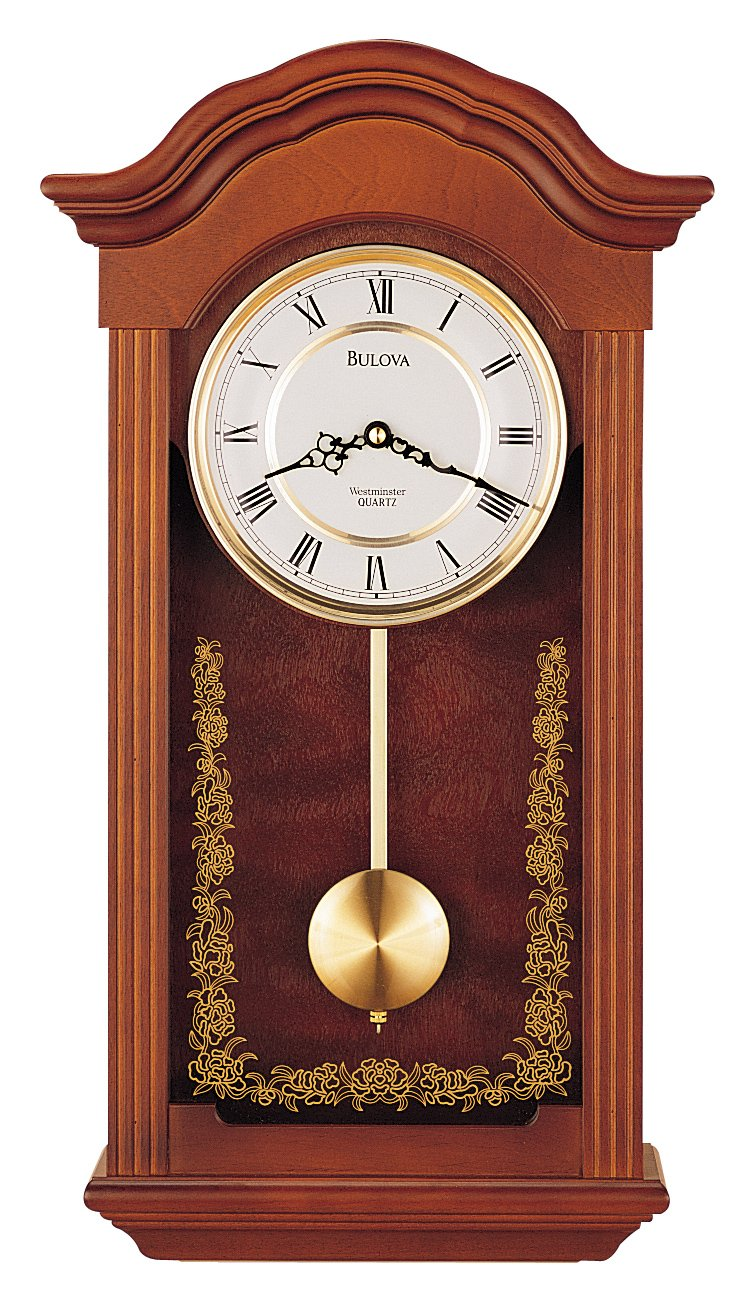 Amazon Bulova C4443 Baronet Clock Mahogany Finish Home Kitchen