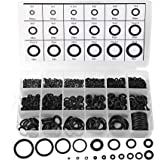 770pcs Rubber O Ring Assortment Kits 18 Sizes Sealing Gasket Washers Made of Nitrile Rubber NBR by HongWay for Car Auto Vehic