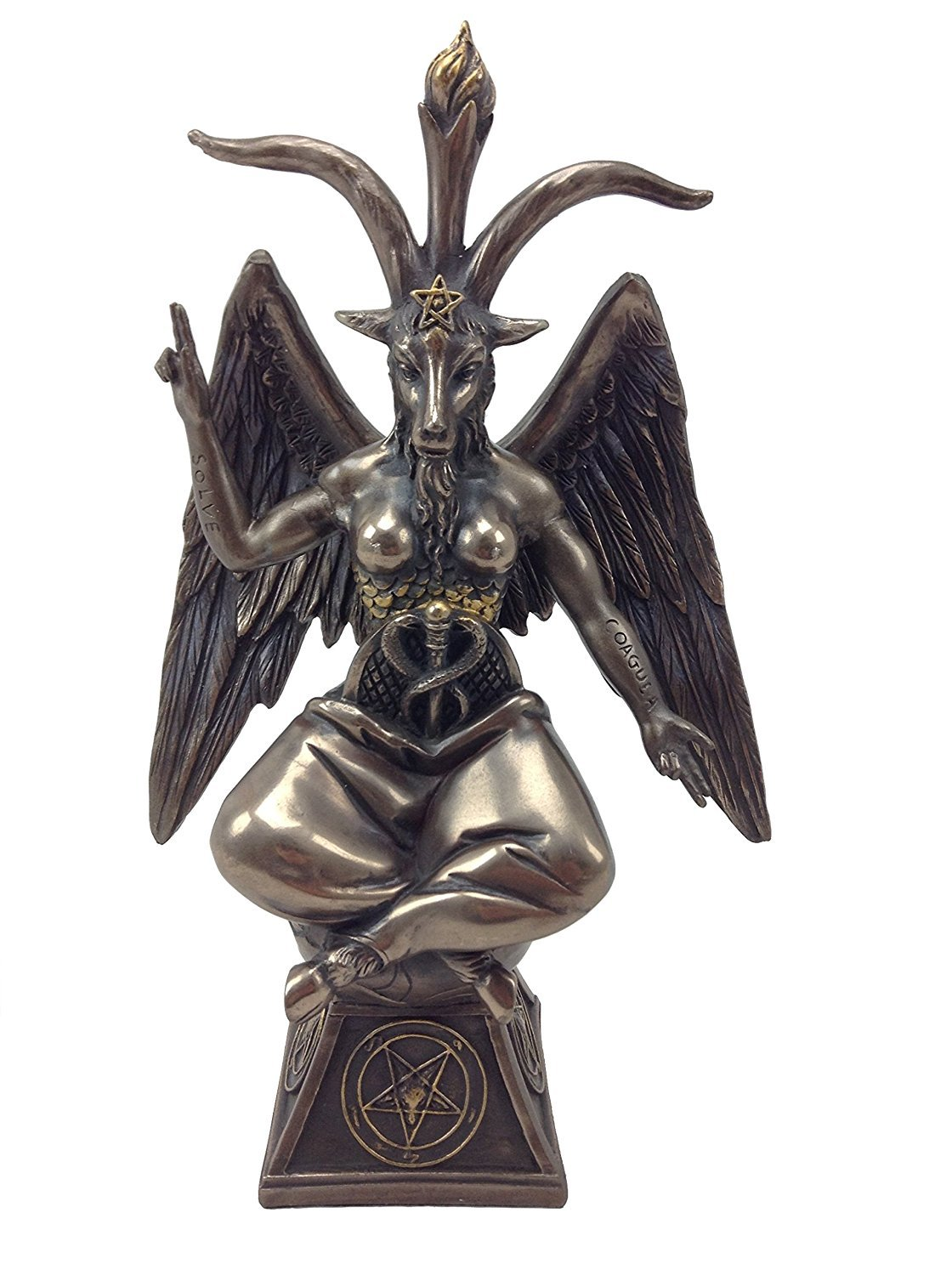 Pacific Giftware Goat Baphomet Satanism Sabbatic Sculpture, Bronze by Pacific Giftware