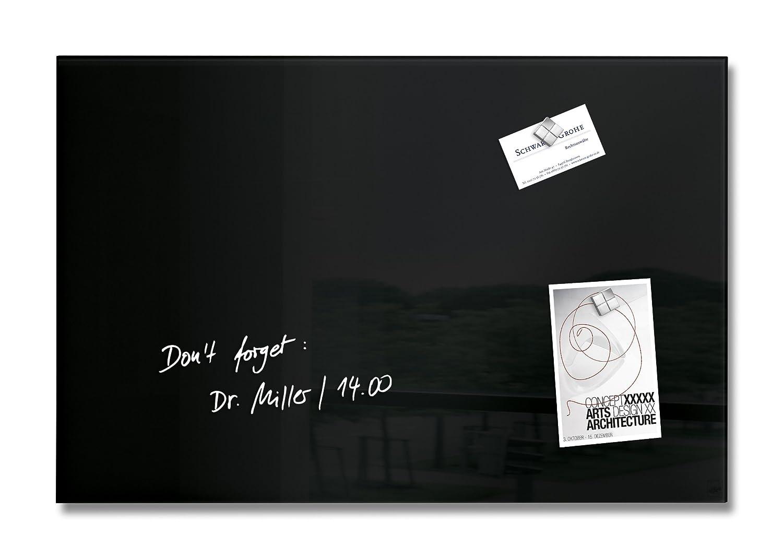 Sigel GL120 - Pizarra de cristal magnética, 60 x 40 cm, negro: Amazon.es: Oficina y papelería