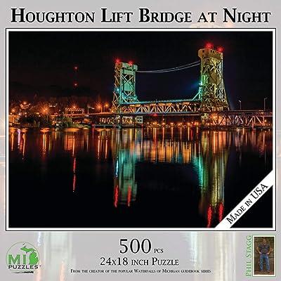 Houghton Lift Bridge - 500 Piece MI Puzzles Jigsaw Puzzle: Toys & Games
