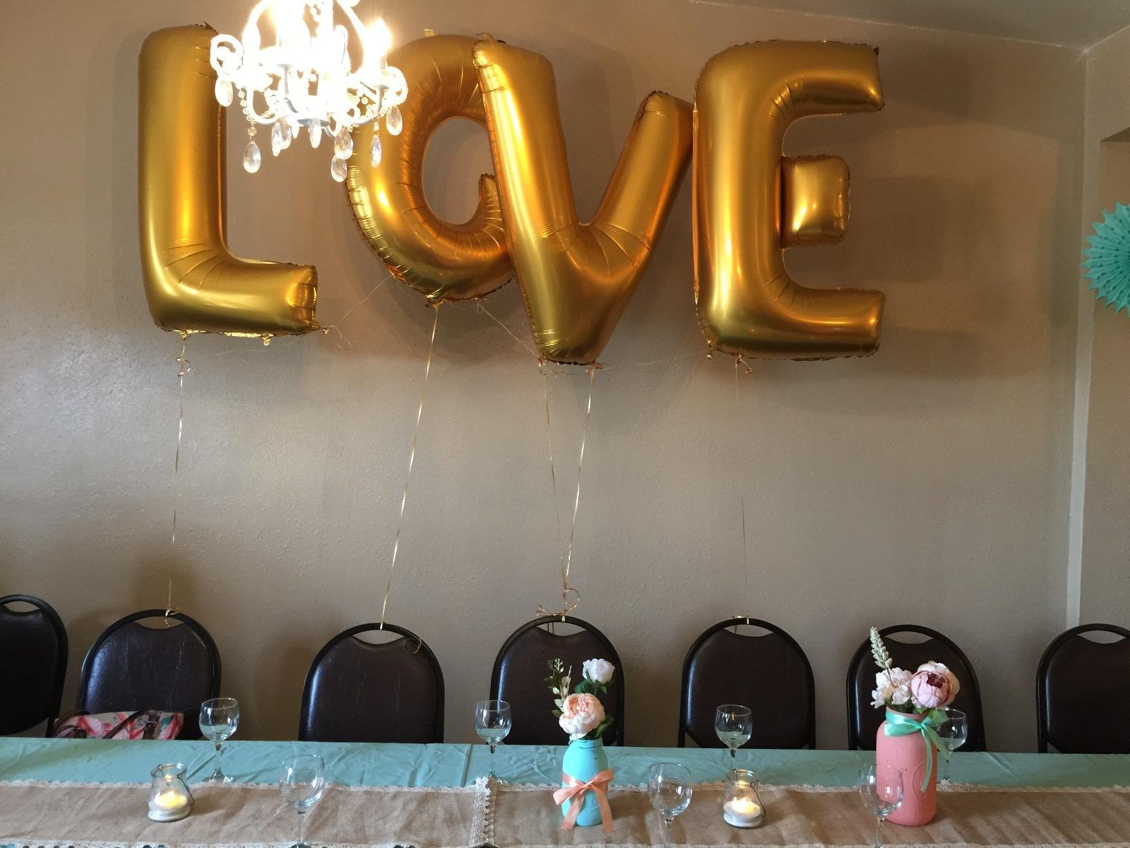 Ruimeier Love (40 Inch) and''I do'' Diamond Ring (27 Inch) Extra Large Balloon Set, Independence Day, Festival, Romantic Wedding, Bridal Shower, Anniversary, Party Decor, Vow Renewal (Golden) H007 by Ruimeier (Image #3)