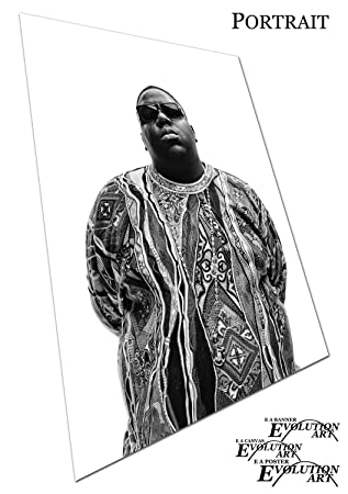 Poster Druck Hip Hop Legende Biggie Smalls - A0