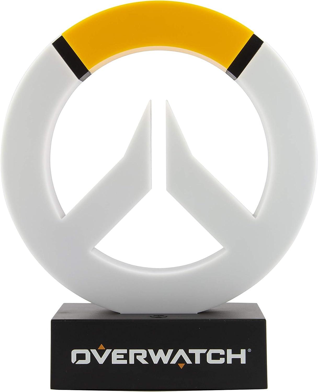 Oficina y hogar Verde Ideal para dormitorios de ni/ños Paladone Overwatch Icon Light Pop Culture Gaming Merchandise Coleccionable Lucio L/ámpara