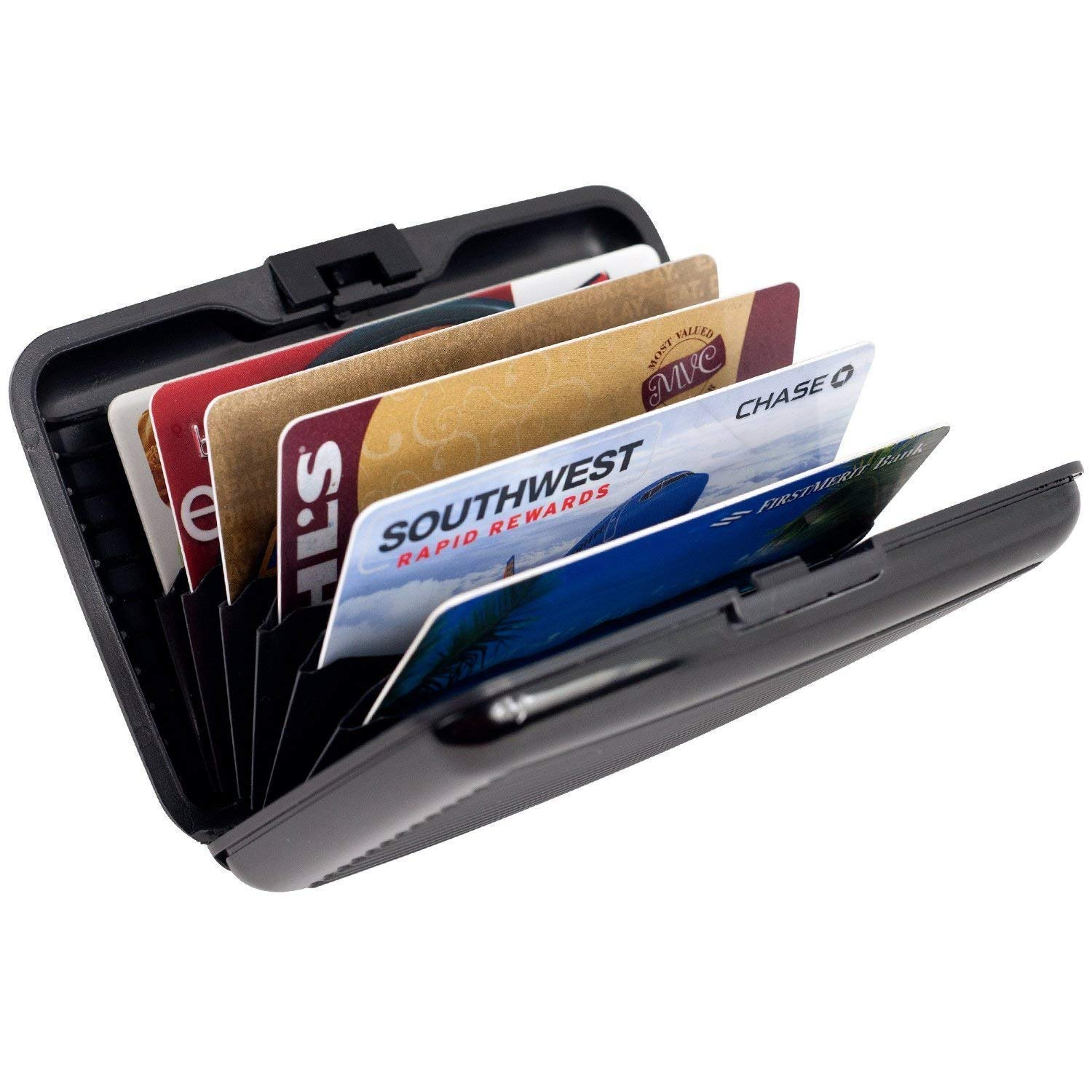 Aluminum Wallet Credit Card Holder With RFID Protection