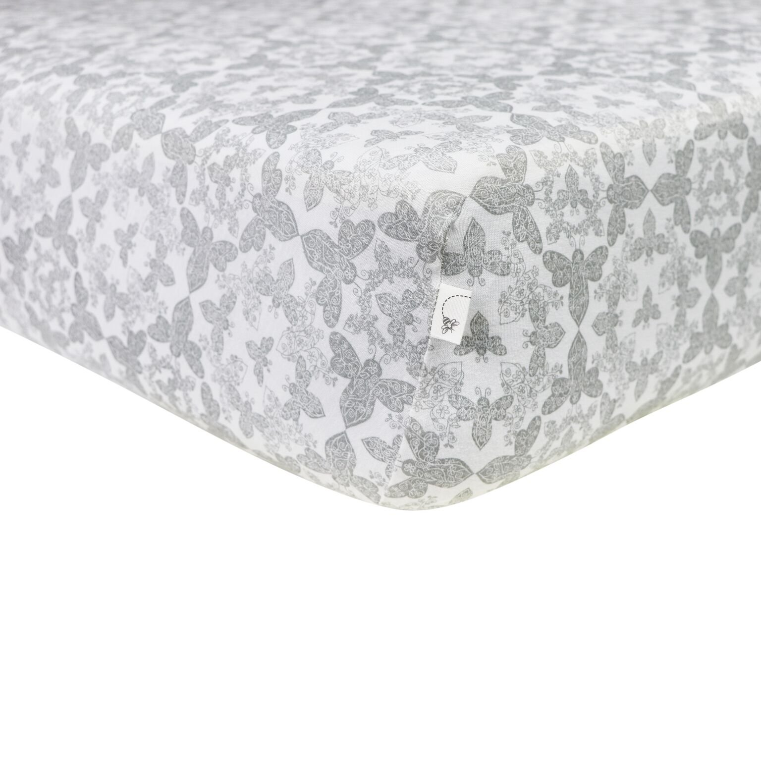bed for kid burt s bees baby fitted crib sheet paisley bee 100 10232