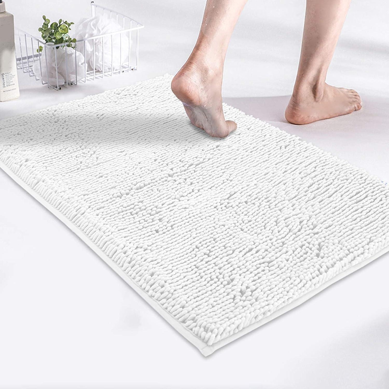 MAYSHINE Luxury Non Slip Chenille Bath Mat for Bathroom Rugs 24