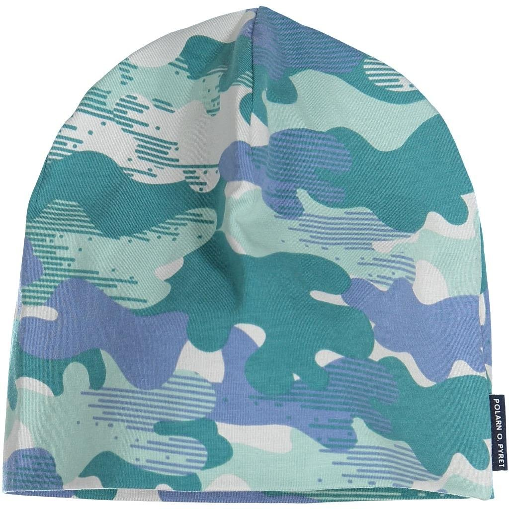 Polarn O. Pyret Autumn ECO CAMO Cap (9-12YRS) - Colonial Blue/9-12 Years