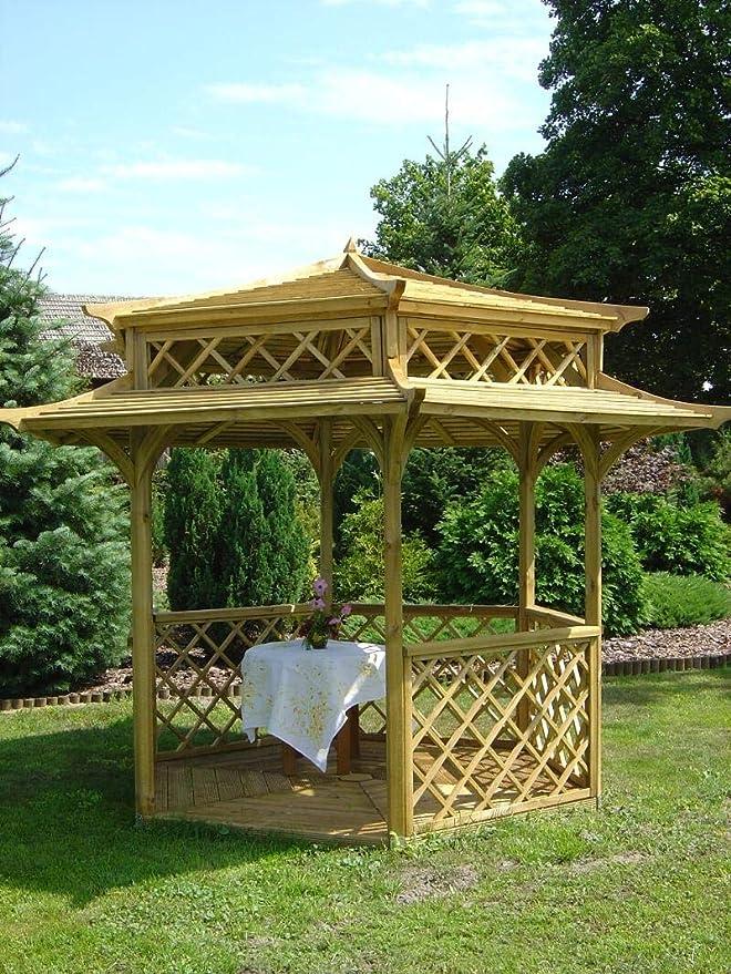 Stan-Wood - Pavellón de madera para jardín (2,5 x 2,5 m)
