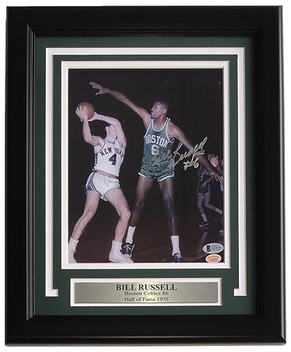 Bill Russell Signed Framed 8x10 Boston Celtics Photo BAS E63654 at ... 3b67621b8
