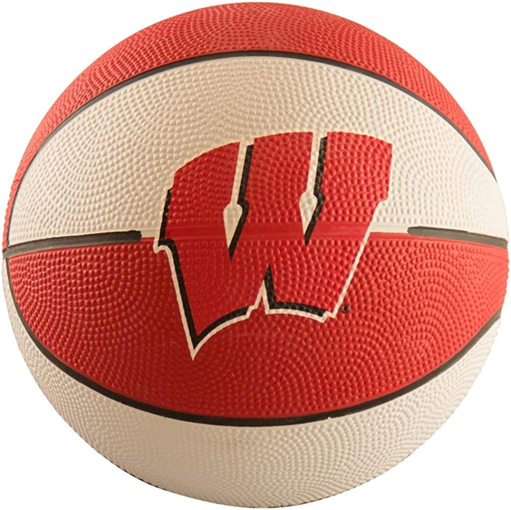 Logo Brands NCAA Wisconsin Badgers Mini Size Rubber Basketball Brown