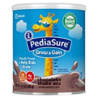 PediaSure Grow & Gain Non-GMO Shake Mix Powder, Nutritional Shake For Kids, With...