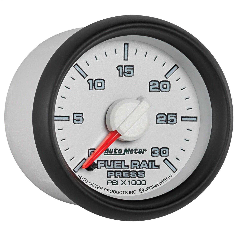 Auto Meter 8586 2-1/16-Inch 0-30000 PSI Fuel Rail Pressure Gauge for 2003-2007.5 Dodge Cummins 5.9L GM Duramax LB7 and LLY PRRXE