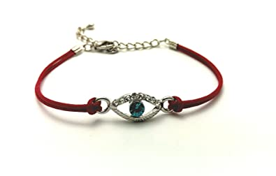 Image Unavailable. Image not available for. Color  EVIL EYE Red String  Kabbalah Bracelet - Fashion Charm Jewelry Bangle Cuff Wristband ... f5f5e9b2fed0