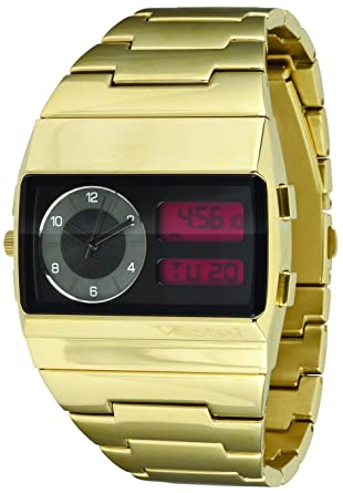 cda9a82b7 Amazon.com: Vestal Men's MMC035 Metal Monte Carlo Gold Ion-Plated  Analogue-Digital Watch: Watches