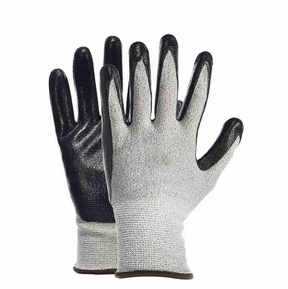 Handling physical work labor insurance professional anti-cutting gloves wear elastic breathable protective tool non-slip oil resistant nitrile / 3 double by LIXIANG (Image #1)