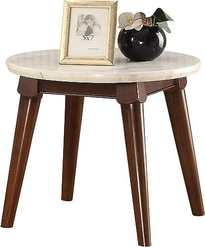 Benjara Benzara Wooden Base End Table