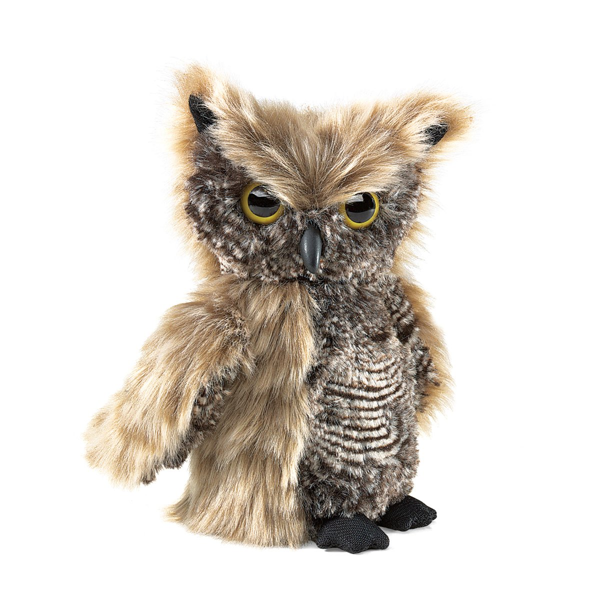 Folkmanis Screech Owl Puppet with Turning Head