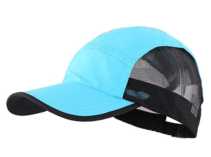 LLmoway Outside Lightweight Boys Running Cap Dry Fit Breathable Mesh  Baseball Hat UV Protection Blue 614a417273b