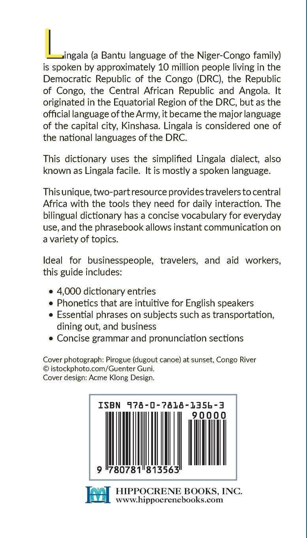 Lingala-English/English-Lingala Dictionary & Phrasebook