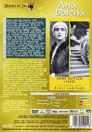 Amazon.com: Ana Bolena (Anna Boleyn) (1920) (Import Movie) (European Format - Zone 2): Movies & TV