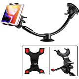 IPOW Upgraded Truck Phone Mount Holder Universal 11 Inches Long Arm Windshield Dashboard Car Mount Cradle with…