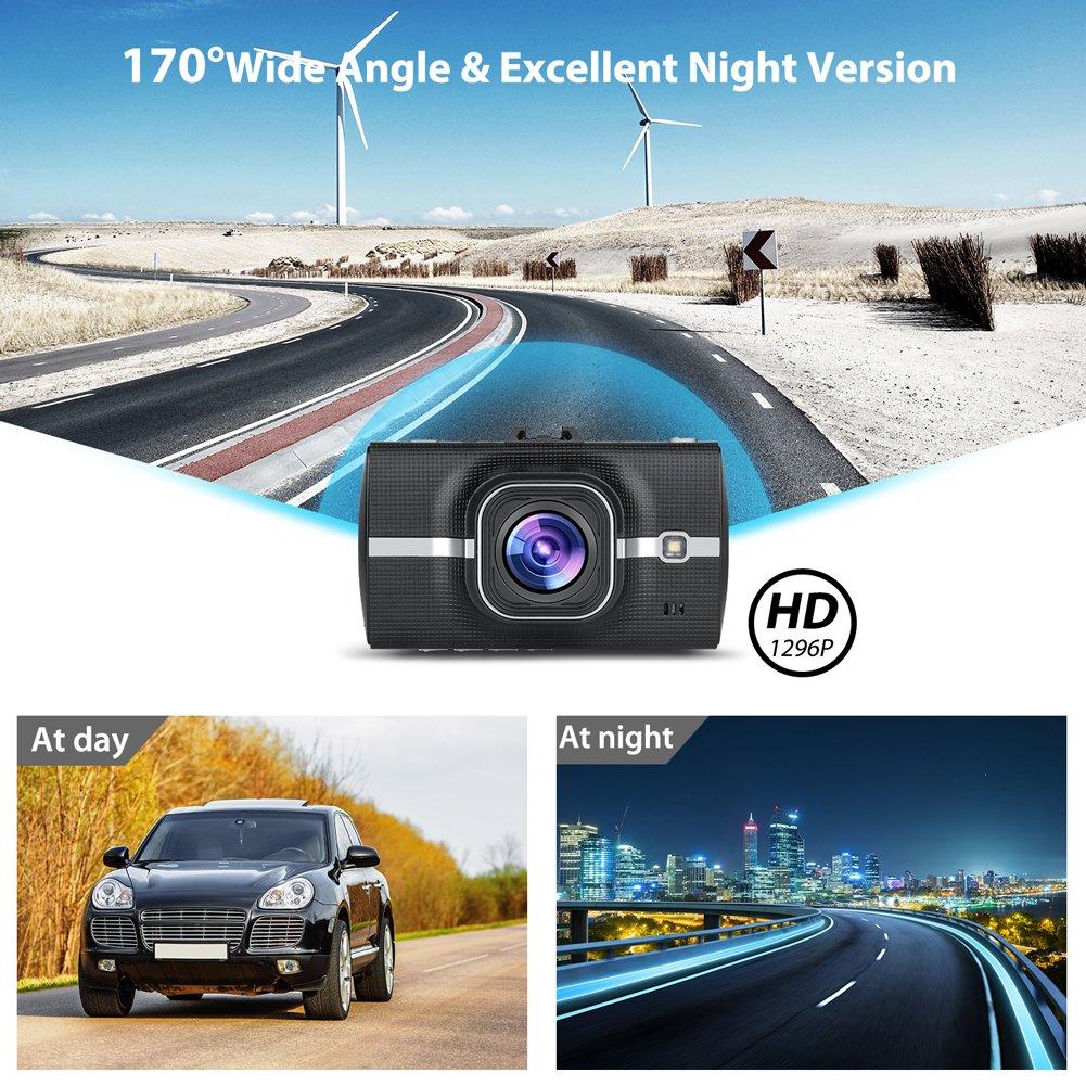 G-Sensor Dash Cam Enregistrement en Boucle Panlelo Cam/éra de Voiture Dashcam Voiture Full HD 1080P Cam/éra Embarqu/ée Voiture Grand Angle 170/°