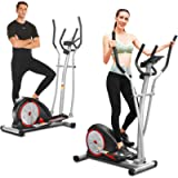 FUNMILY Elliptical Machines, Elliptical Trainer Machine with LCD Monitor and Pulse Rate Grips Magnetic Smooth Quiet…